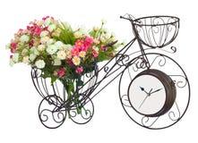 Blume auf Fahrraduhr Lizenzfreie Stockfotos