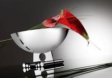 Blume auf Platte Lizenzfreies Stockbild