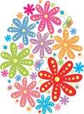 Blume bildete Osterei Lizenzfreie Stockfotos