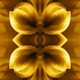 Blume deckt Kunstillustration mit Ziegeln Lizenzfreies Stockbild