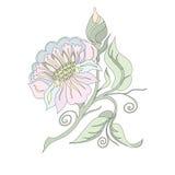 Blume in den Pastellfarben vektor abbildung