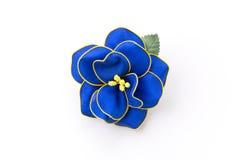 Blume der silk Brosche Stockbild