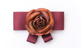 Blume der silk Brosche Lizenzfreies Stockfoto