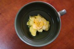 Blume an der Unterseite der Schale Stockfoto