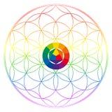 Blume des Lebens, Buddhismus chakra Illustration stock abbildung