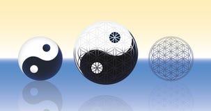 Blume des Lebens Yin Yang Spheres Lizenzfreie Stockfotografie