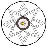 Blume färbt Logo für Maschineriegeschäft Lizenzfreie Stockfotos