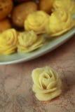 Blume gemacht von einer Kartoffel Lizenzfreie Stockfotografie