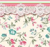 Blume Illustrationsmuster im einfachen Hintergrund Stockfotografie