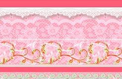 Blume Illustrationsmuster im einfachen Hintergrund Lizenzfreie Stockbilder