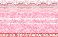 Blume Illustrationsmuster im einfachen Hintergrund Stockbilder