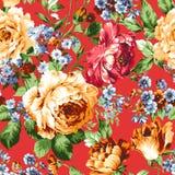 Blume Illustrationsmuster im einfachen Hintergrund stock abbildung
