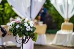 Blume im Hochzeitsempfang Lizenzfreie Stockbilder