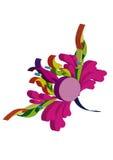 Blume, lokalisiert auf weißem Hintergrund Stockfotografie