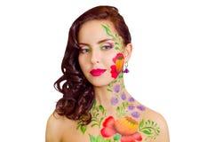 Blume-Mädchen stockfoto