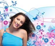 Blume-Mädchen 5 Lizenzfreies Stockfoto
