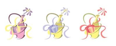 Blume mit einem Geschenk Lizenzfreies Stockfoto