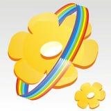 Blume mit Regenbogen Stockfoto