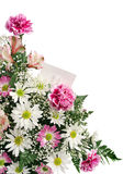 Blume-Rand-Geschenk-Karte Lizenzfreie Stockfotos