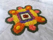 Blume Rangoli Stockfoto