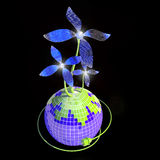 Blume - Solarbatterie Stockfotos
