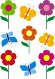 Blume und Basisrecheneinheit Lizenzfreies Stockbild
