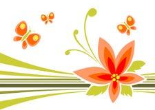 Blume und Basisrecheneinheiten stock abbildung