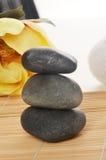 Blume und heilende Felsen Stockfoto