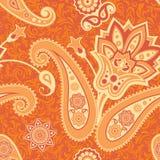 Blume und nahtloses Muster Paisleys Stockfotografie