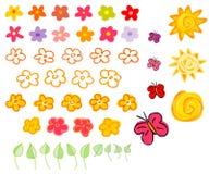 Blume und Sonnen Stockfotos