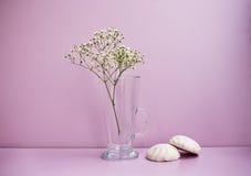 Blume und zwei Zefir Stockfotografie