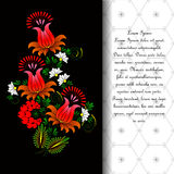 Blume Vektor in der ukrainischen traditionellen Malerei Lizenzfreies Stockbild