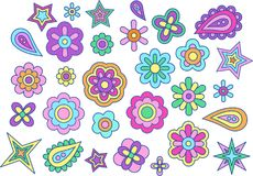 Blume, Vektorillustration Lizenzfreies Stockfoto