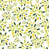 Blume verlässt nahtlosen Muster-Hintergrund-Vektor Stockfoto