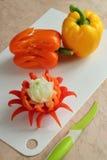 Blume vom bulgarischen Pfeffer Stockfoto