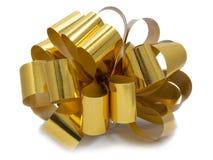 Blume von einem Goldfarbband Lizenzfreie Stockfotos