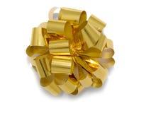 Blume von einem Goldfarbband Lizenzfreie Stockbilder