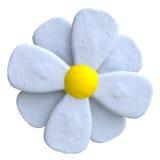 Blume von Plasticine oder von Lehm stock abbildung