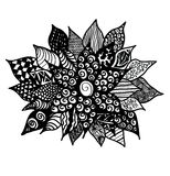 Blume Zentangle Lizenzfreie Stockfotos