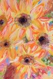 Blumen-Ölgemäldefragment Stockbilder