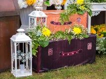 Blumen-Anordnungs-Dekoration für die Heirat Stockfoto