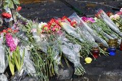 Blumen auf den Barrikaden Lizenzfreie Stockfotos