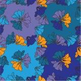 Blumen auf einem blauen Hintergrund Lizenzfreie Stockfotografie