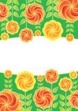 Blumen auf einem grünen Hintergrund Stockfoto