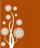 Blumen auf hölzernem Hintergrund stock abbildung