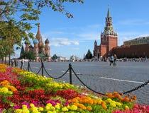 Blumen auf Rotem Platz Lizenzfreies Stockfoto