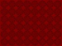 Blumen-Auslegung-Rot-Hintergrund Lizenzfreie Stockfotografie