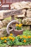 Blumen-Bett Stockfotos