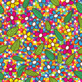 Blumen-Blatt-buntes Mosaik-Muster Stockfotografie