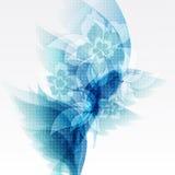 Blumen-Broschüren-Schablone. Hintergrund-Entwurfs-Vektor Lizenzfreie Stockfotos